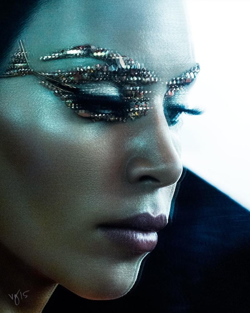 Kim Kardashian Violet Grey Photoshoot Cleopatra02