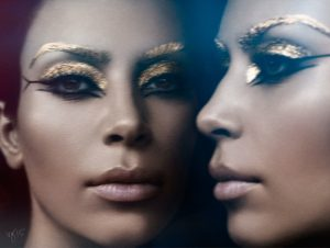 Kim Kardashian Transforms Into Elizabeth Taylor's 'Cleopatra' for Violet Grey