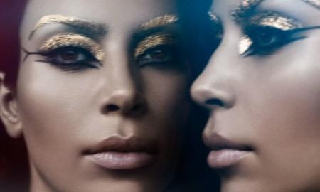 Kim Kardashian Violet Grey Photoshoot Cleopatra05