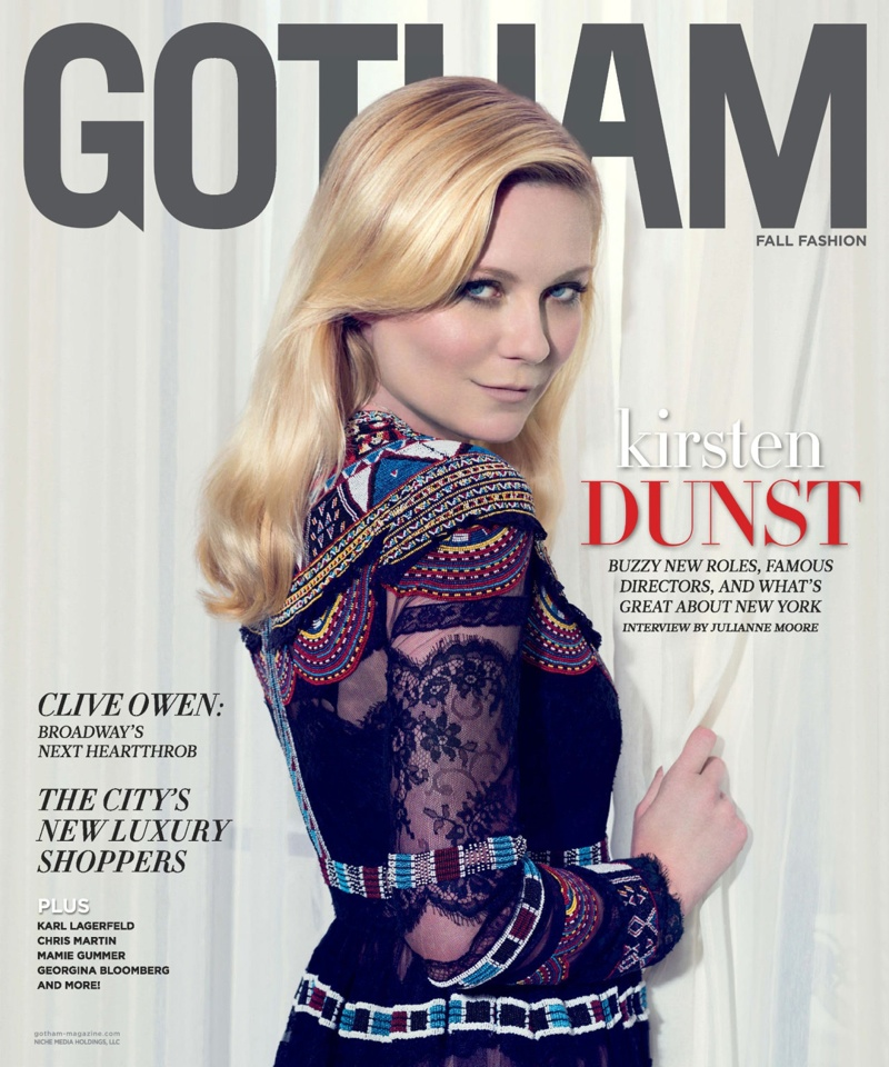 Kirsten Dunst on Gotham Magazine September 2015 cover