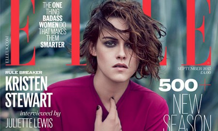 Kristen Stewart on ELLE UK September 2015 cover