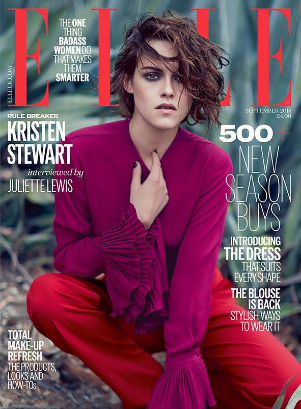 Kristen Stewart Wears Gucci on ELLE UK Cover