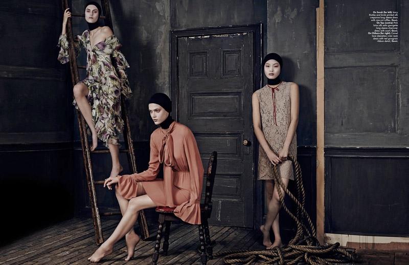 Chiharu Okunugi, Sarah Brannon & Tess Hellfeuer Are Trending for L'Officiel Singapore's September Issue