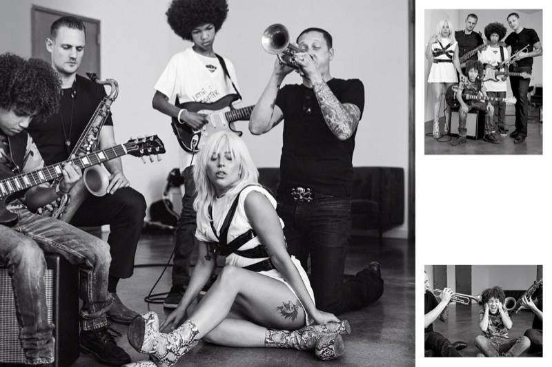 Ladgy Gaga joins a band in this image