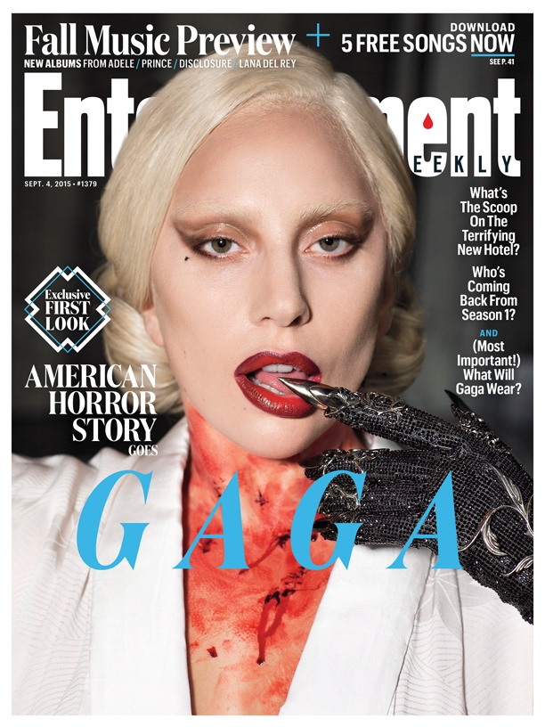 Lady Gaga on Entertainment Weekly September 4, 2015 Cover