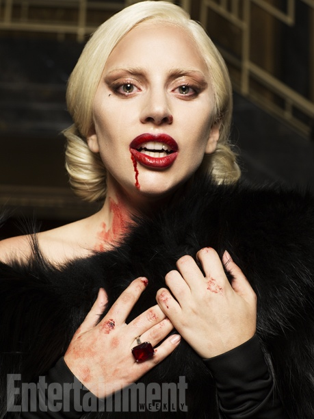 Gaga has blood-lust as a vampire-like creature