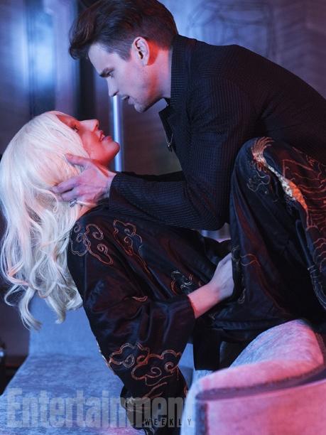 Lady Gaga and Matt Bomer in 'American Horror Story: Hotel' still