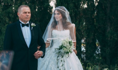 Lana Zakocela wears Mark Zunino wedding dress
