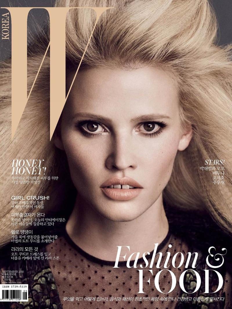 Lara Stone Graces the September 2015 Cover of W Korea (1 of 2)