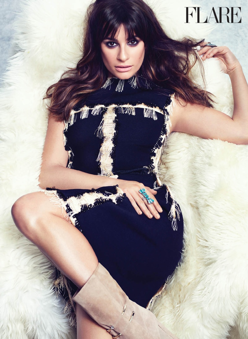 Lea Michele Stars in FLARE & Talks Scream Queens'  Feminist Message