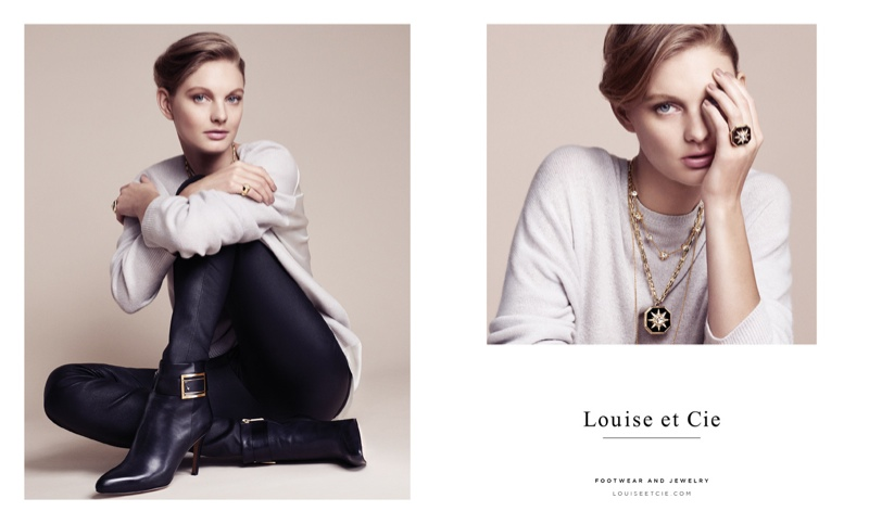 Patricia Van der Vliet Shines in Louise et Cie's Fall 2015 Ads