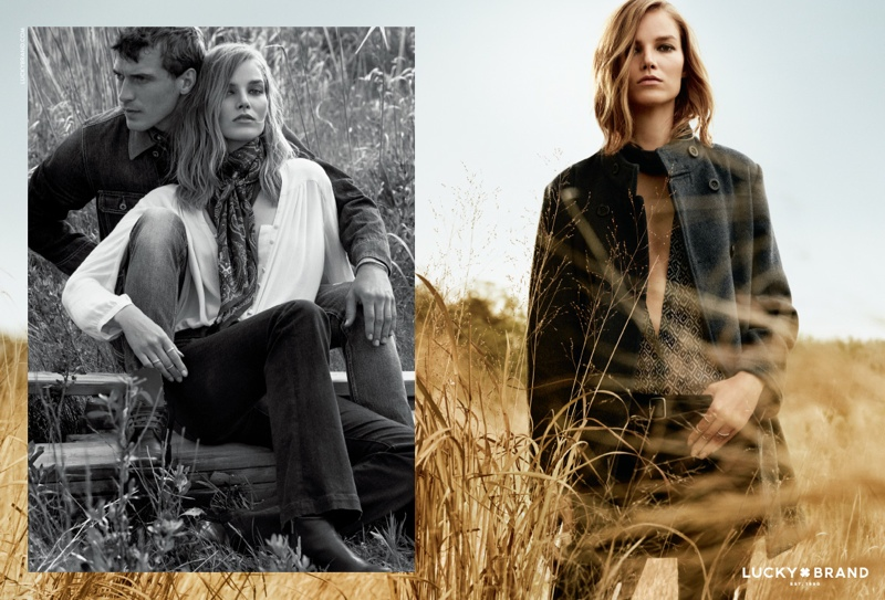 Suvi Koponen Goes Outdoors for Lucky Brand's Fall 2015 Campaign