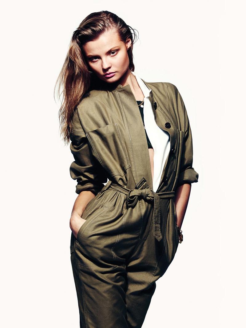 Magdalena Frackowiak Sports Military-Inspired Style for Vogue Mexico
