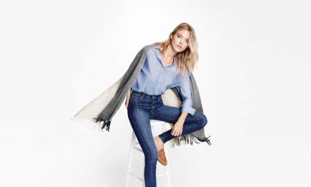Martha Hunt stars in Lindex's sustainable denim campaign