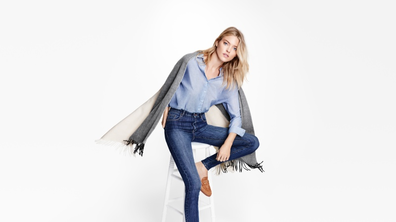 Martha Hunt Models Lindex's Sustainable Denim Collection