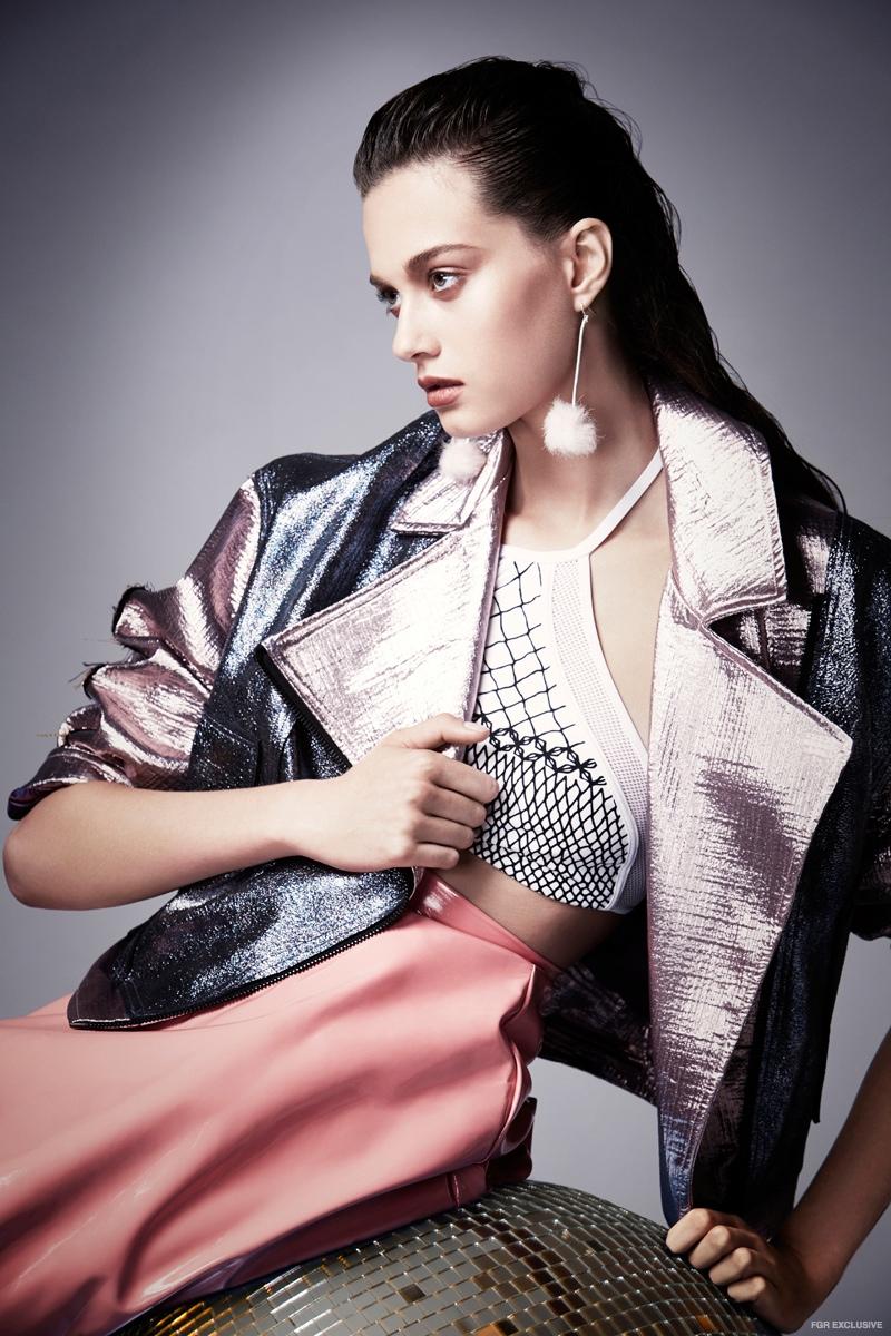 LP33.3 Jacket, Prism Halter Top, Topshop Skirt
