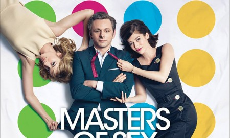 Masters of Sex season 3 poster with Caitlin FitzGerald, Michael Scheen and Lizzy Caplan