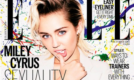 Miley Cyrus on ELLE UK October 2015 cover