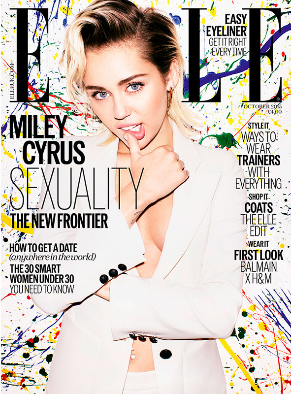 Miley Cyrus Suits Up for ELLE UK Cover