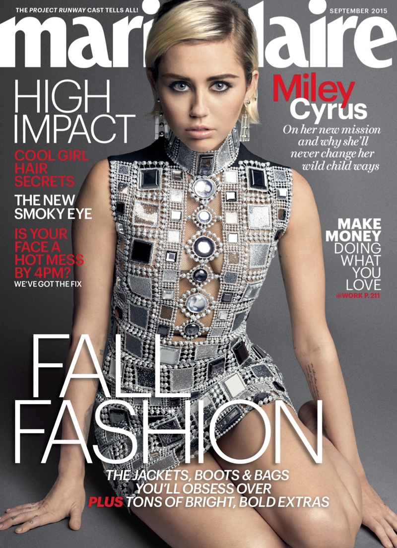 Miley Cyrus Marie Claire September 2015 Cover Photo Shoot03