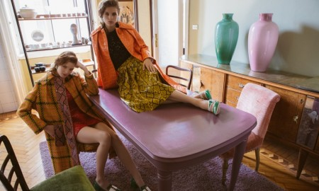 The girls were photographed by Marco D'Amico for the editorial