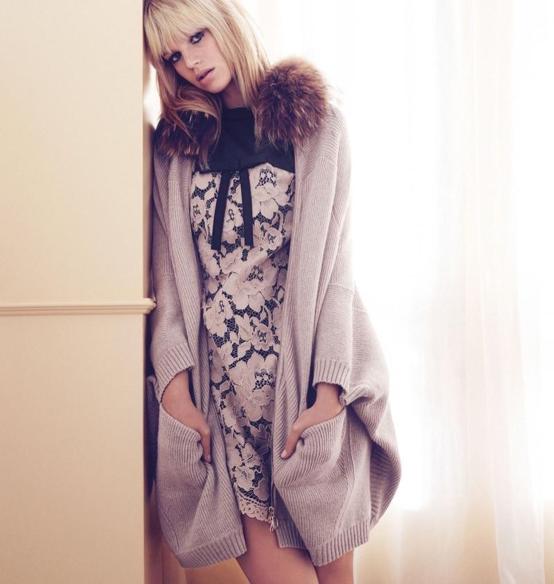 Twin Set Handtassen Winter 2015 : Nadine leopold for twin set fall winter ad campaign