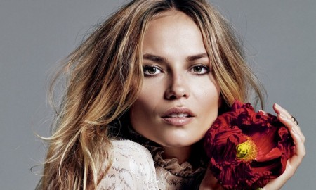 Natasha Poly poses for the September issue of Glamour Russia