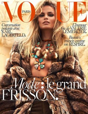 Natasha Poly Gets Wild for Vogue Paris' September 2015 Cover