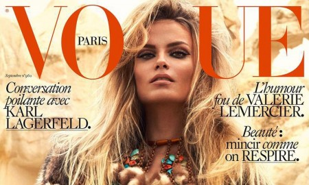 Natasha Poly Vogue Paris September 2015 Cover