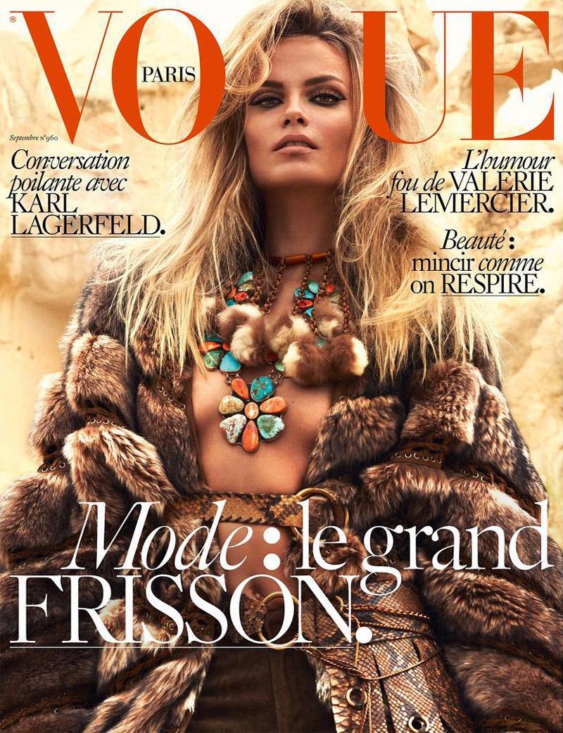 Natasha Poly Vogue Paris September 2015 Cover