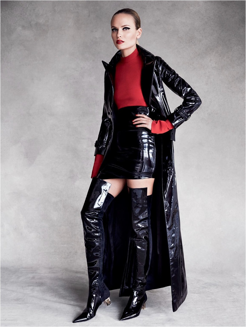Natasha Poly Makes a Case for Thigh-High Boots in Vogue Russia Editorial
