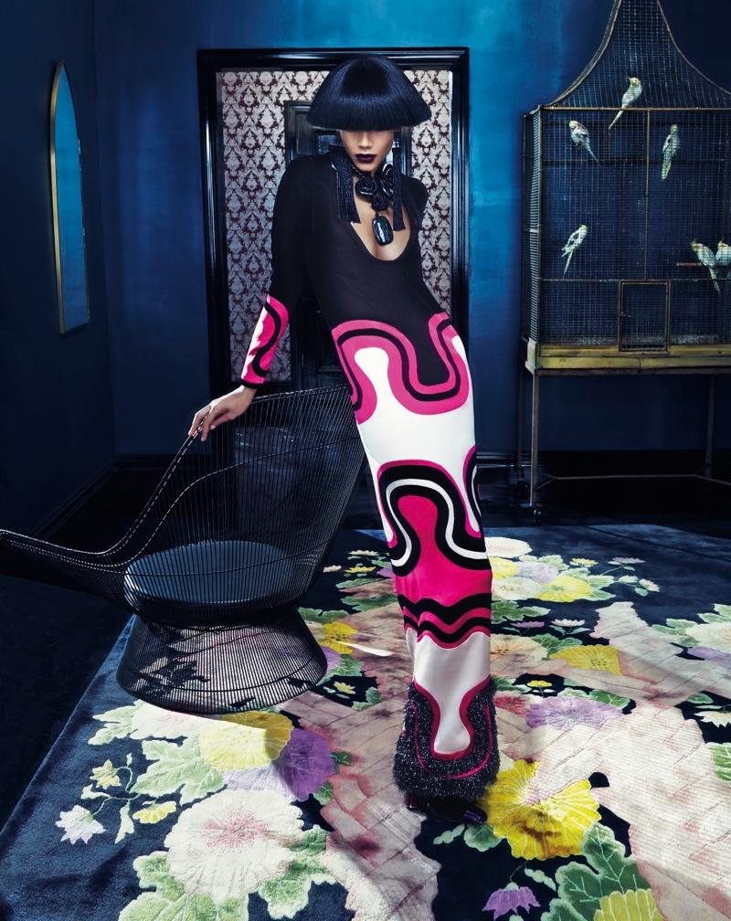 Binx Walton stars in Neiman Marcus 'Art of Fashion' fall 2015 campaign