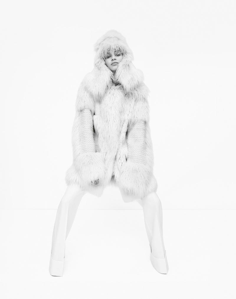 Faux fur coat by Stella McCartney