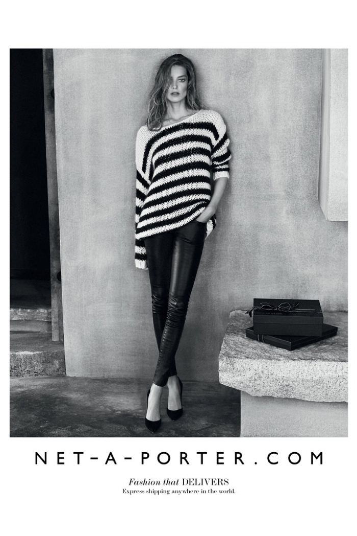Net A Porter Fall 2015 Campaign With Daria Werbowy