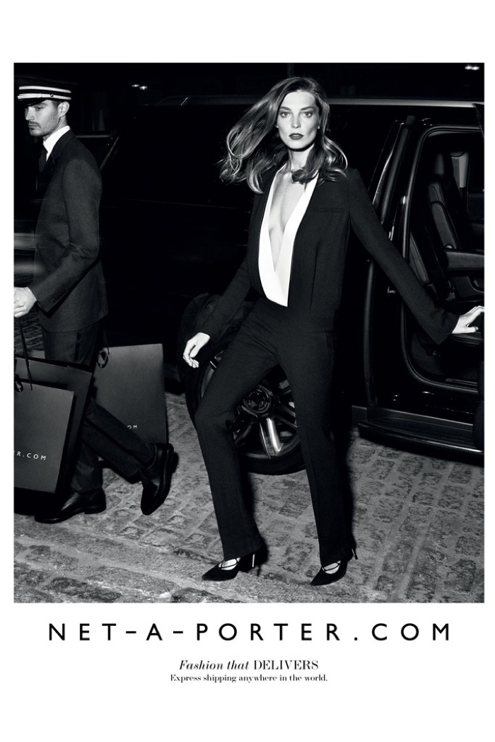 Daria Werbowy Lands Third Net-a-Porter Campaign for Fall '15