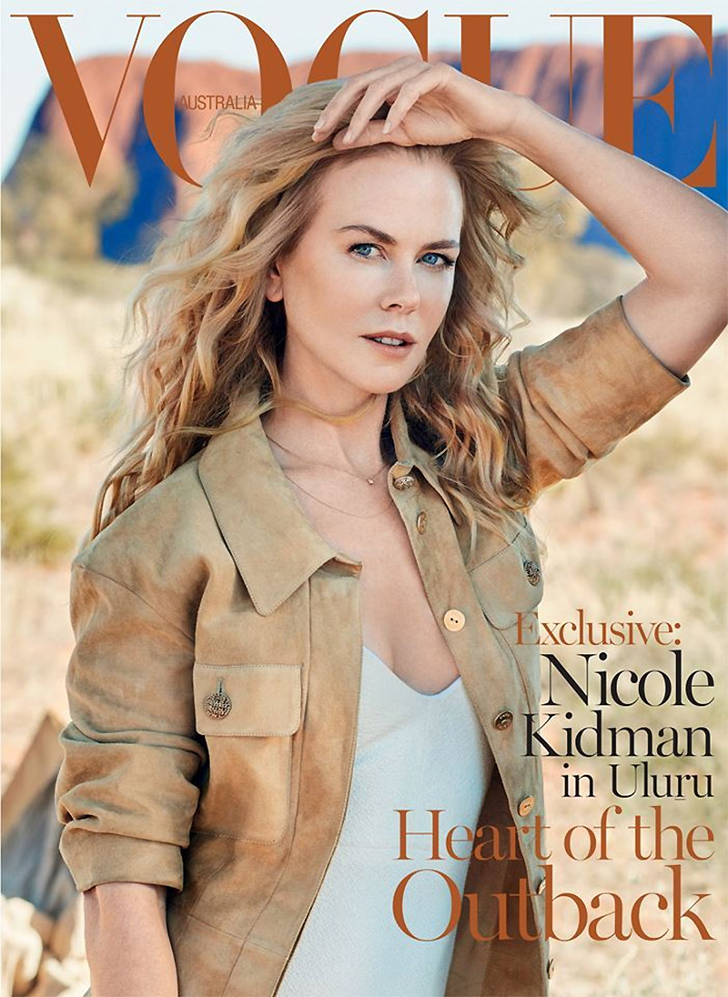 Nicole Kidman Goes to the Outback for Vogue Australia's September Cover