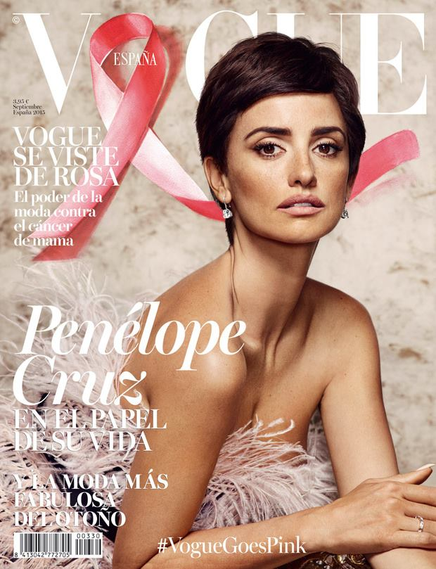 Penelope Cruz Wears Short Hair on September Vogue Spain Cover