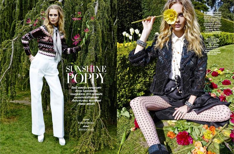 Poppy Delevingne Lofficiel Thailand August 2015 Cover Shoot03