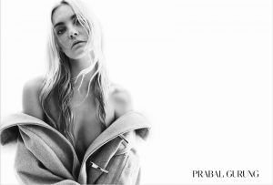 Caroline Trentini Gets Sultry for Prabal Gurung's Fall 2015 Campaign