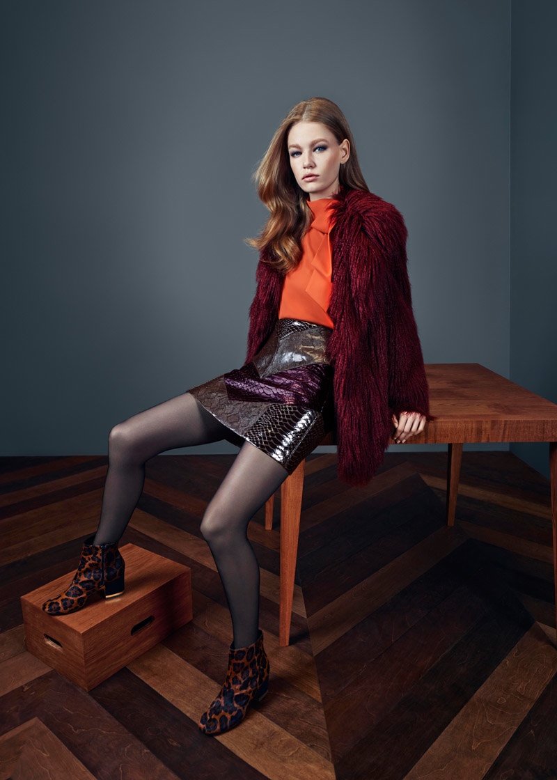 Hollie May Saker is 70s Cool for River Island's Fall 2015 Ads