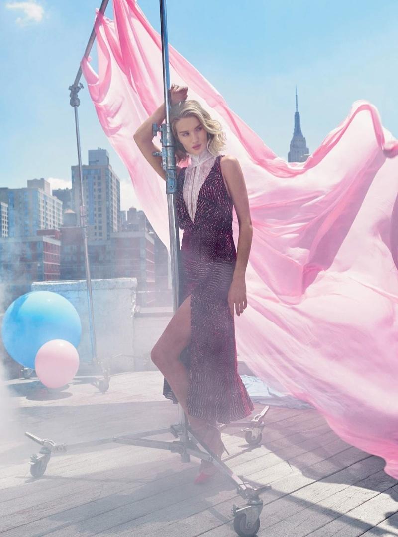 Rosie Huntington Whiteley Models Pastel Style For Harper 39 S Bazaar Uk Fashion Gone Rogue