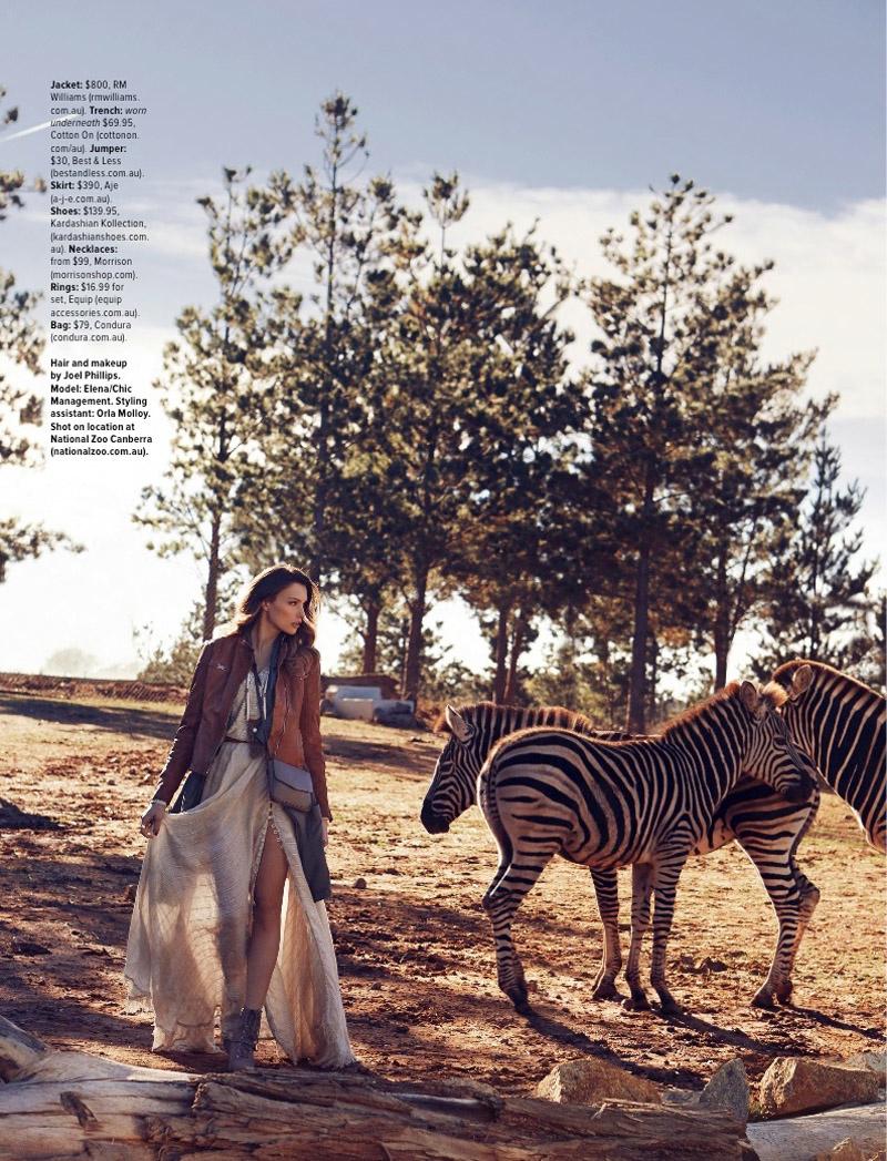 Elena Goes on a Style Safari for Cosmopolitan Australia