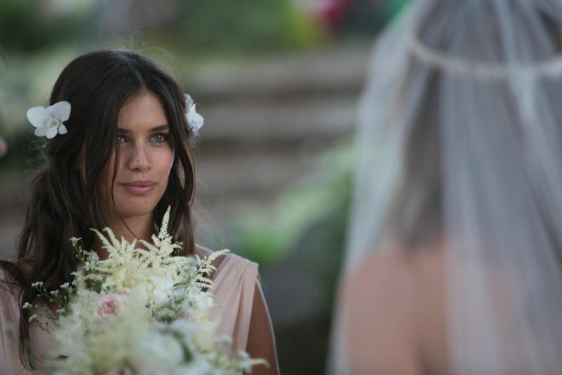 Sara Sampaio was one of Lana's bridesmaids