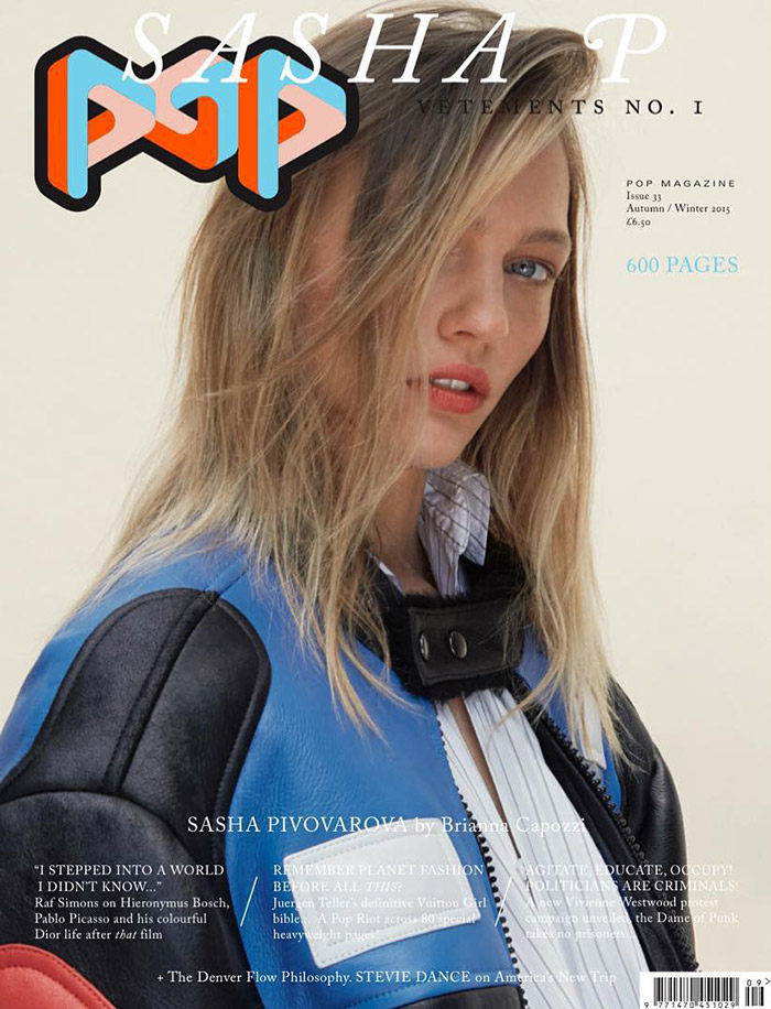 Gisele Bundchen, Sasha Pivovarova Land POP's F/W 2015 Covers