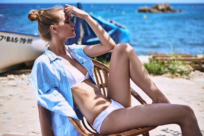 Merilin Kask Models Serendipity Intimates Summer '15 Swim Collection