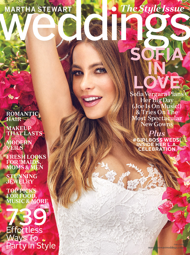 Sofia Vergara Tries On Bridal Looks for Martha Stewart Weddings