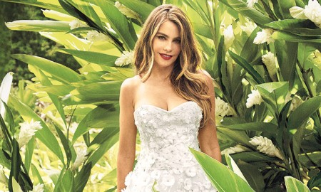 Sofia Vergara wears Marchesa dress in Martha Stewart Weddings