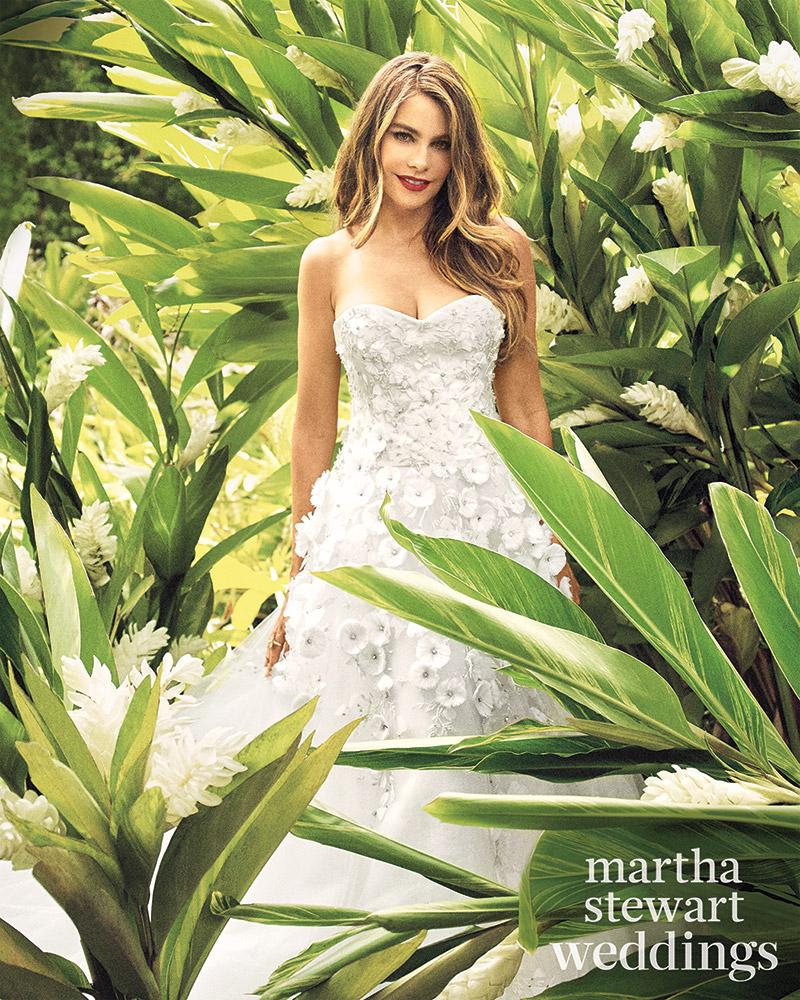 Sofia Vergara Tries On Bridal Looks for Martha Stewart Weddings