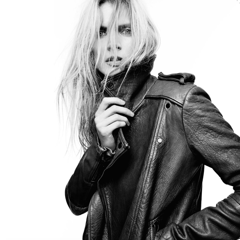 Malgosia wears Rider leather jacket from Superfine