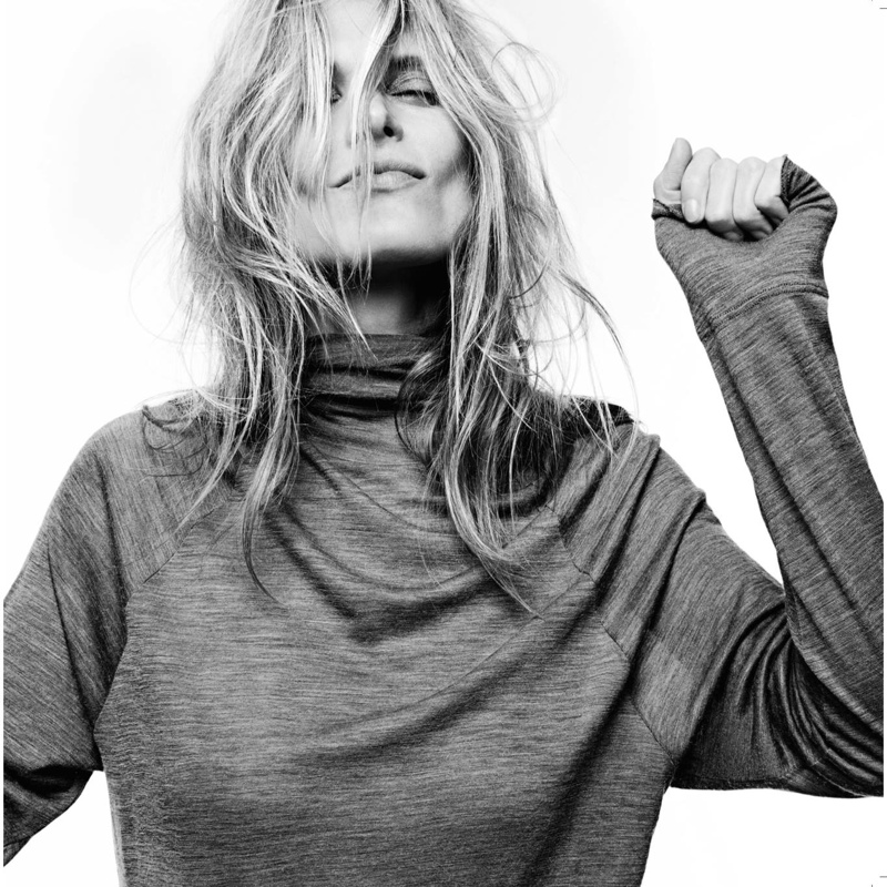 Malgosia in Slouch polo top